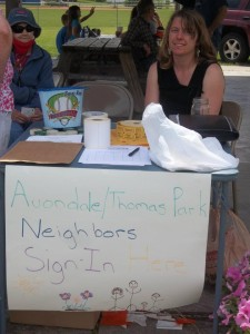 Avondale-Thomas Park booth