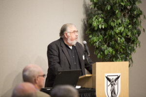 Scott Truex speaking at the Food Summit