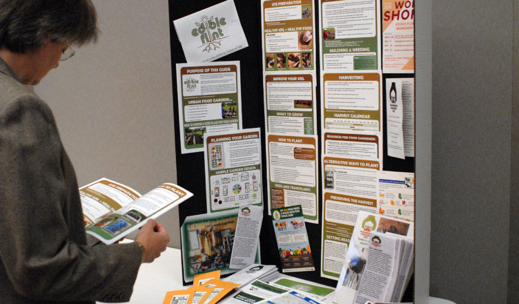 Edible Flint display at the Food Summit