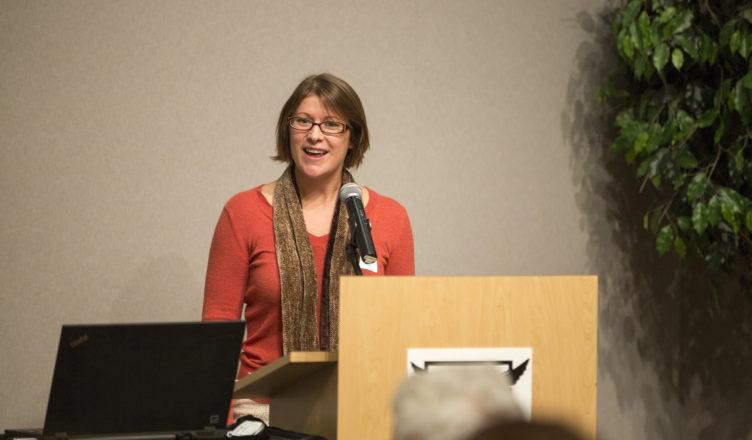 Speaker addressing the food summit
